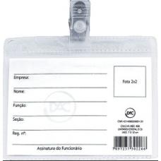cracha c/ presilha transp 7x10 c/50