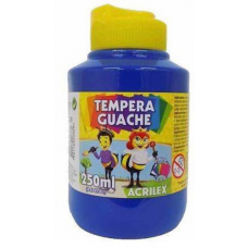 tempera acrilex 250ml azul ref 501