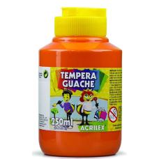 tempera acrilex 250ml laranja ref 517