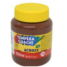 tempera acrilex 250 ml marron  ref 531