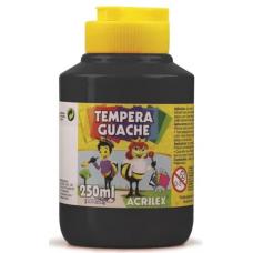 tempera acrilex 250ml preto ref 520