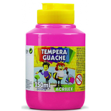 tempera acrilex 250ml rosa ref 537